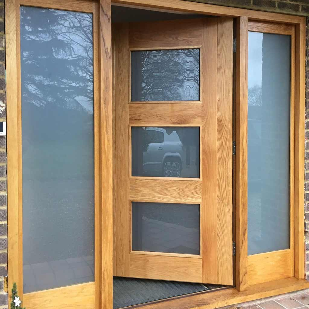 large photo an example of wooden door by henley joinery